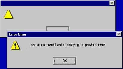 El primer error